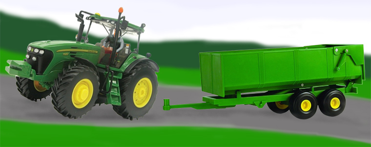 image, model tractor and trailer