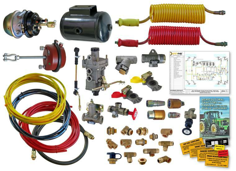 Components of Typical Air Brake Kit