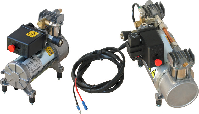 12-volt Air Compressors, Single-Cylinder and Twin-Cylinder