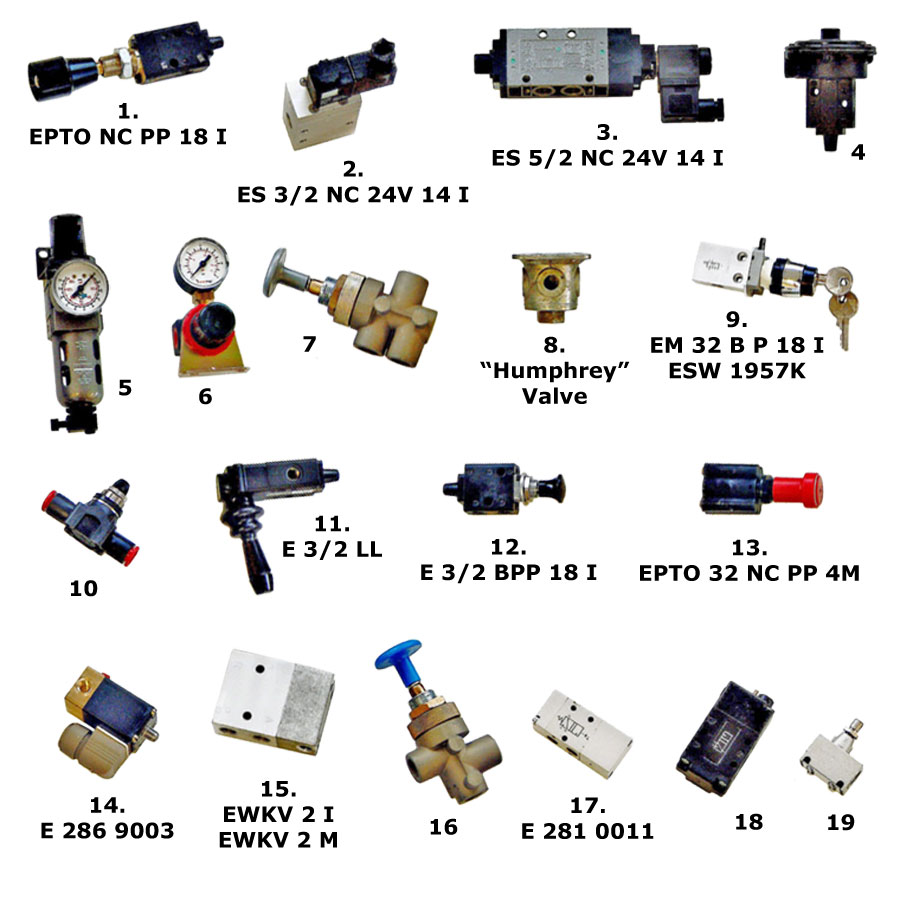 Erentek Parts For Air Braking Hydraulic And 12 Volt Valve Wiring Diagram Control Valves Single Double Lift Axles 16 3 2 5 Type 17 Drawbar Pin Release